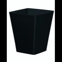Cache pot carré réserve d'eau - Noir