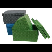 Serie de 3 Boîtes avec couvercle