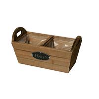 Jardinière en bois avec deux compartiments