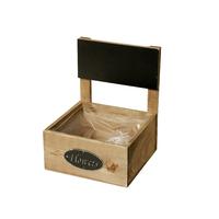 Pot carré en bois