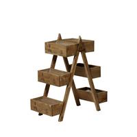 Présentoir six étagères en bois design échelle