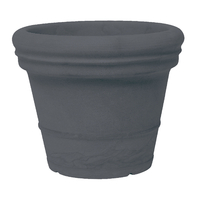 Pot imitation terre coloris anthracite