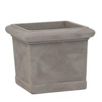 Pot carré imitation terre cuite - coloris pierre