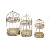 Cages à oiseaux décoratives - 3 cages