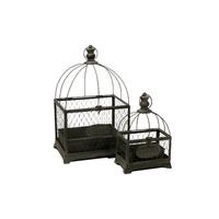 Cages à oiseaux décoratives - 2 cages