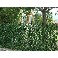 Treillis osier extensible avec feuilles laurier cerise