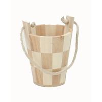 Pot en bois avec anse corde