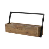 Jardinière à fixer au mur - bois et métal