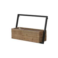 Jardinière bois et métal à fixer au mur