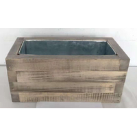 JARDINIERE EN BOIS 100 X 47 H47 (ep. 3,5cm) - Intérieur en zinc