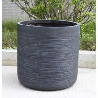 Lot de 2 pots en fibre de pierre