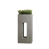 Pot design en fibre de pierre forme haute