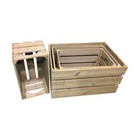 Lot de 4 caisses en bois