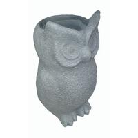 Pot fibre de pierre forme chouette