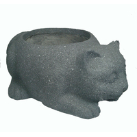 Pot en fibre de pierre forme chat