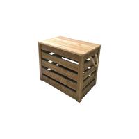 Lot de 3 caisses en bois - Très grandes dimensions