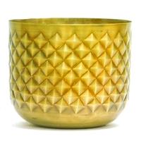 Cache pot en acier inoxydable design Ananas