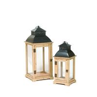 Lanternes en bois et métal
