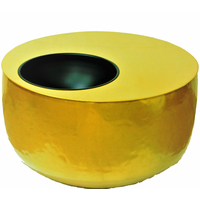Table de jardin en acier inoxydable - Ø 75 x H 44
