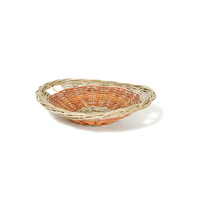 Panière en rotin ovale - 53 x 46 H 12cm