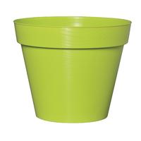 Pot plastique effet strillé - Coloris vert pomme
