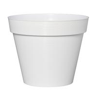 Pot plastique coloris blanc