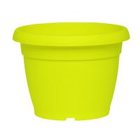Pot de fleur plastique coloris jaune