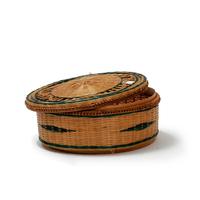 Boîte ronde bambou naturel verni avec couvercle
