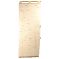 Store en soie + cannelle - fixation bambou