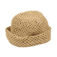 """Chapeau """"Boule"""" jonc naturel ajouré"""