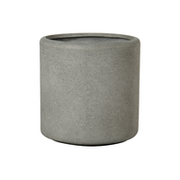 Pot en fibre et ciment coloris gris béton