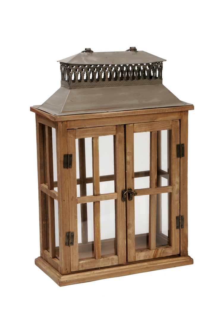 Lanterne en bois d co d co bois boutique d coration et for Magasin deco bois