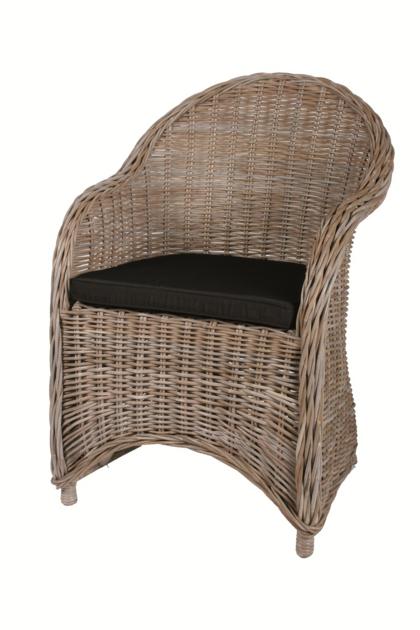 fauteuil rotin c rus avec coussin d co fauteuil en rotin canap mobilier de jardin. Black Bedroom Furniture Sets. Home Design Ideas