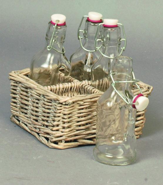 set osier avec 4 bouteilles d co d co de table boutique d coration et am nagement jardin. Black Bedroom Furniture Sets. Home Design Ideas