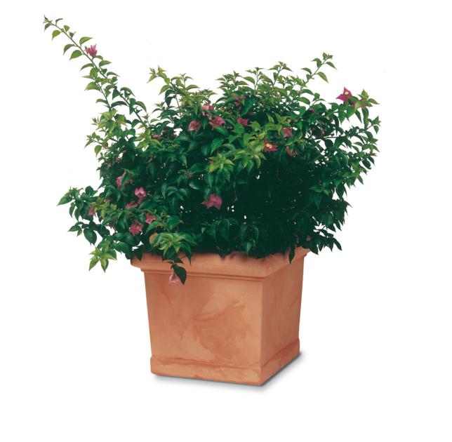 Pot carr imitation terre cuite poterie pots de fleurs - Pot de fleur carre ...