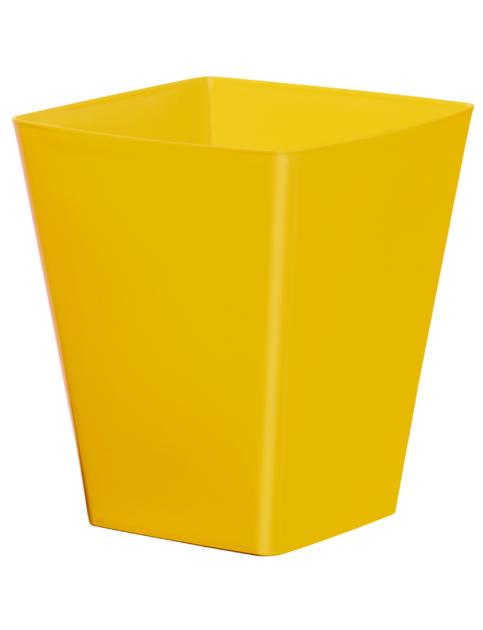 cache pot carr r serve d 39 eau jaune poterie cache pot plastique boutique d coration et. Black Bedroom Furniture Sets. Home Design Ideas