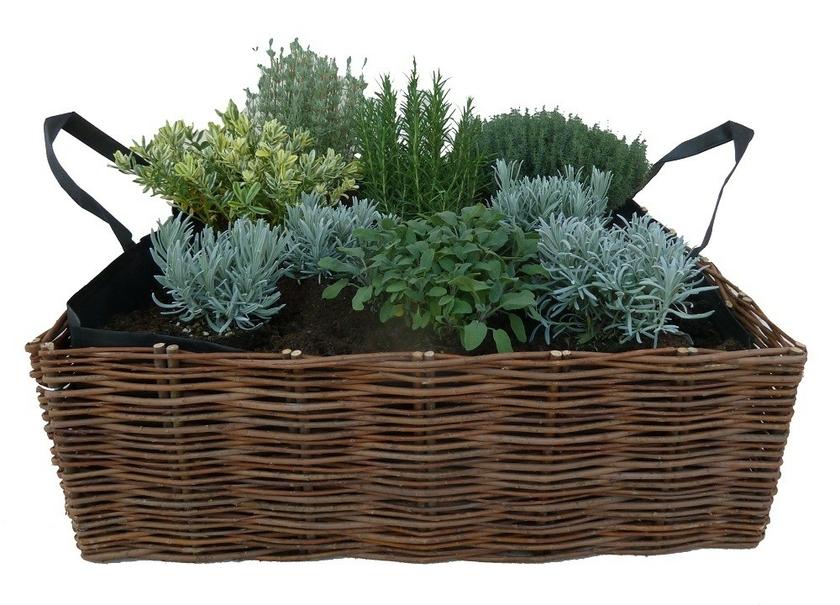 Carr potager forme jardini re 95cm potager en bac for Carre potager en osier 120x120