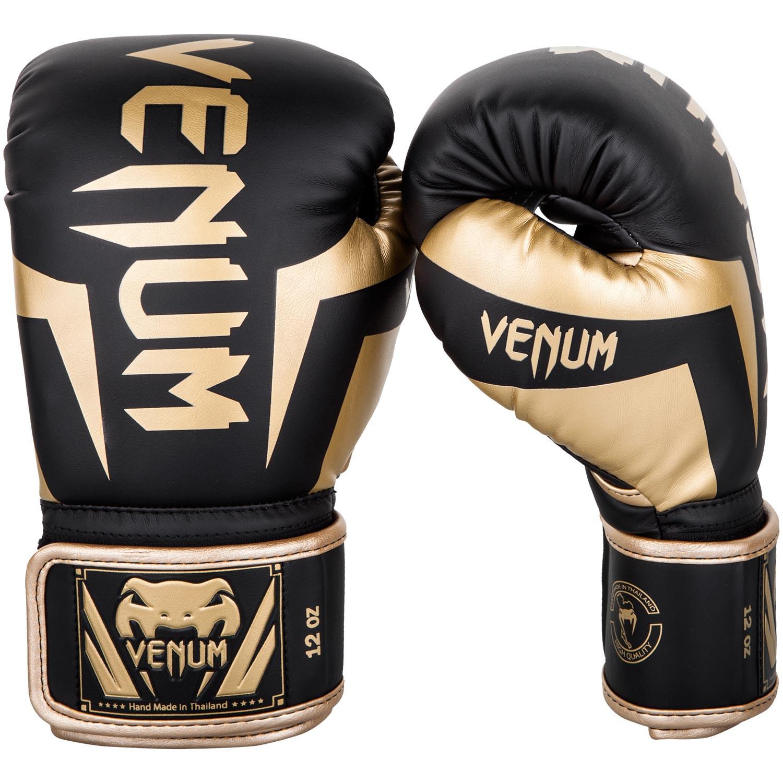 Gants de boxe Venum élite Noir et Doré