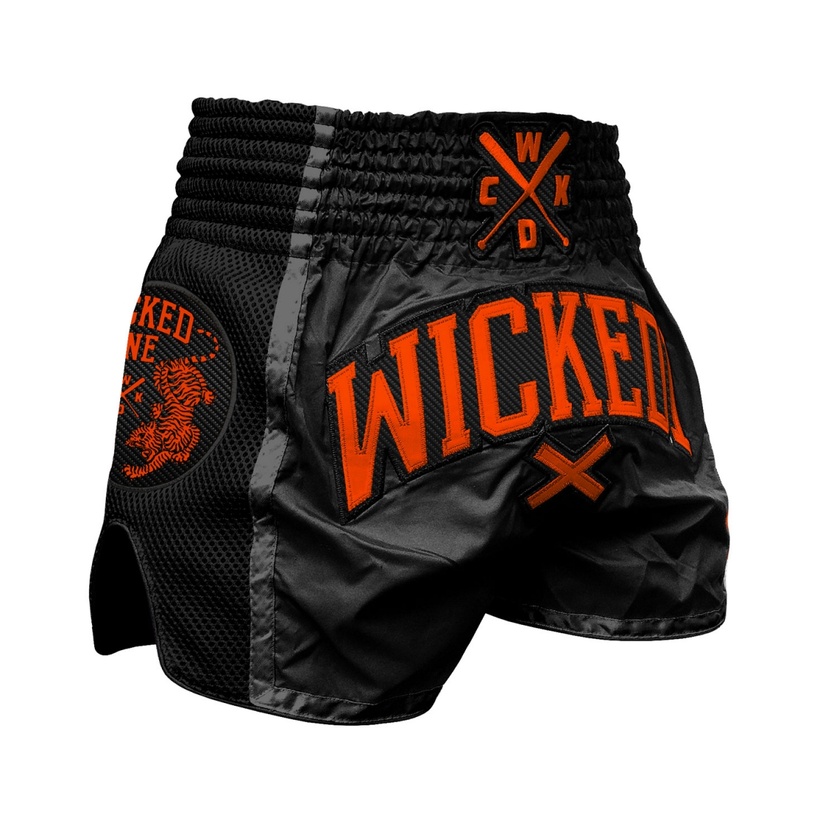 Short Wicked one Cross Noir et Orange