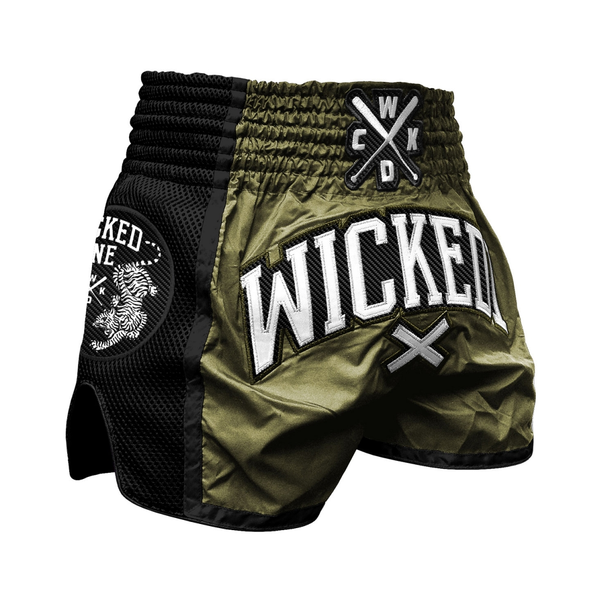 Short boxe Thaï Wicked one cross kaki