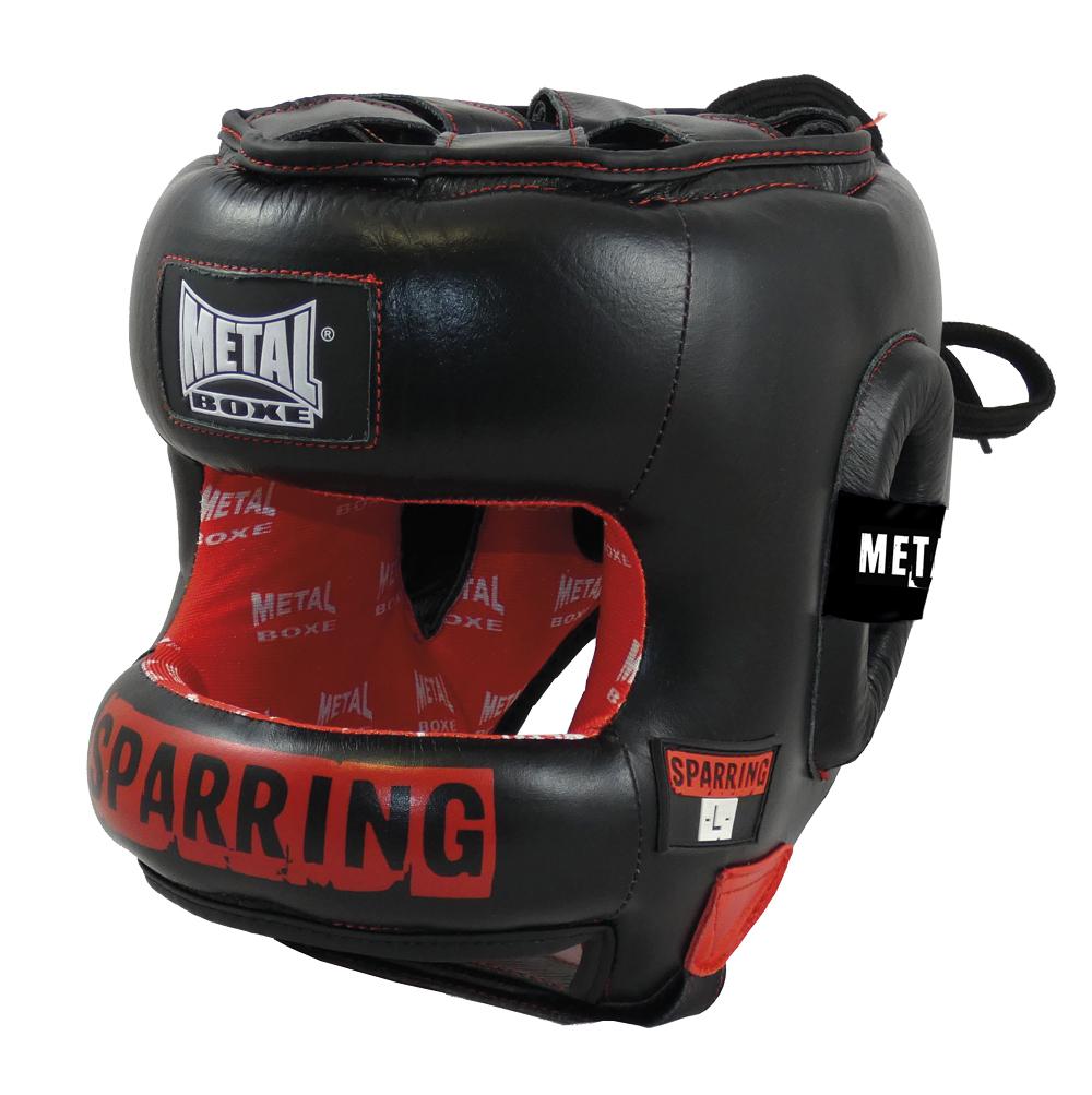 Casque de sparring Métal boxe en cuir