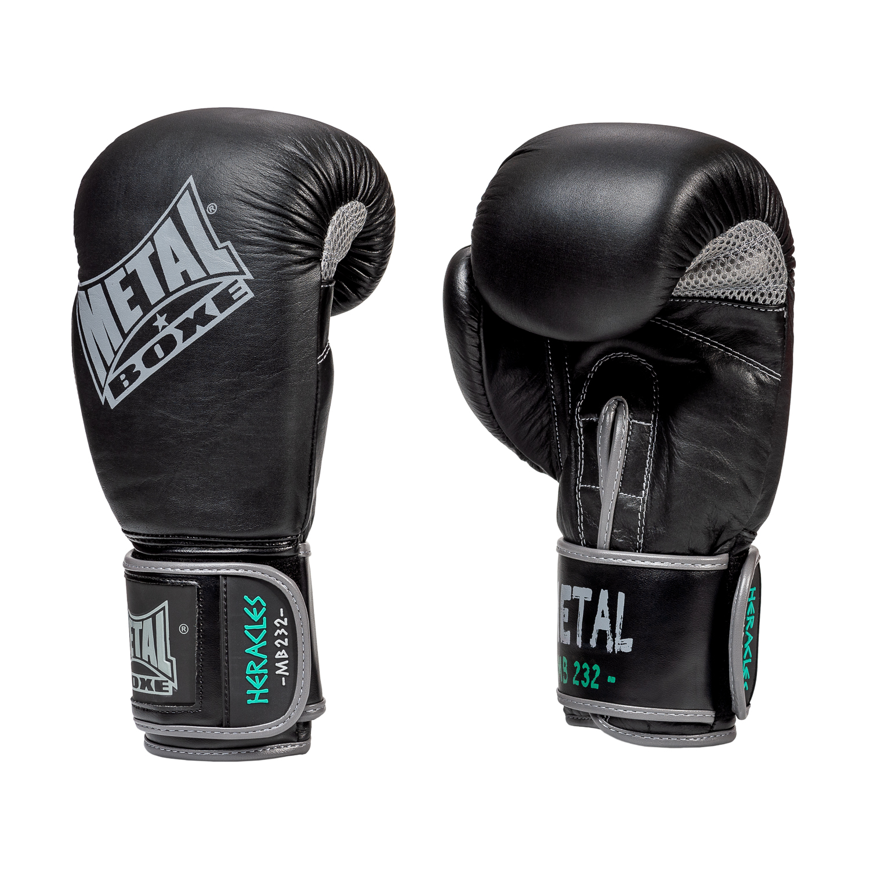 Gants de boxe en cuir Métal boxe Heracles