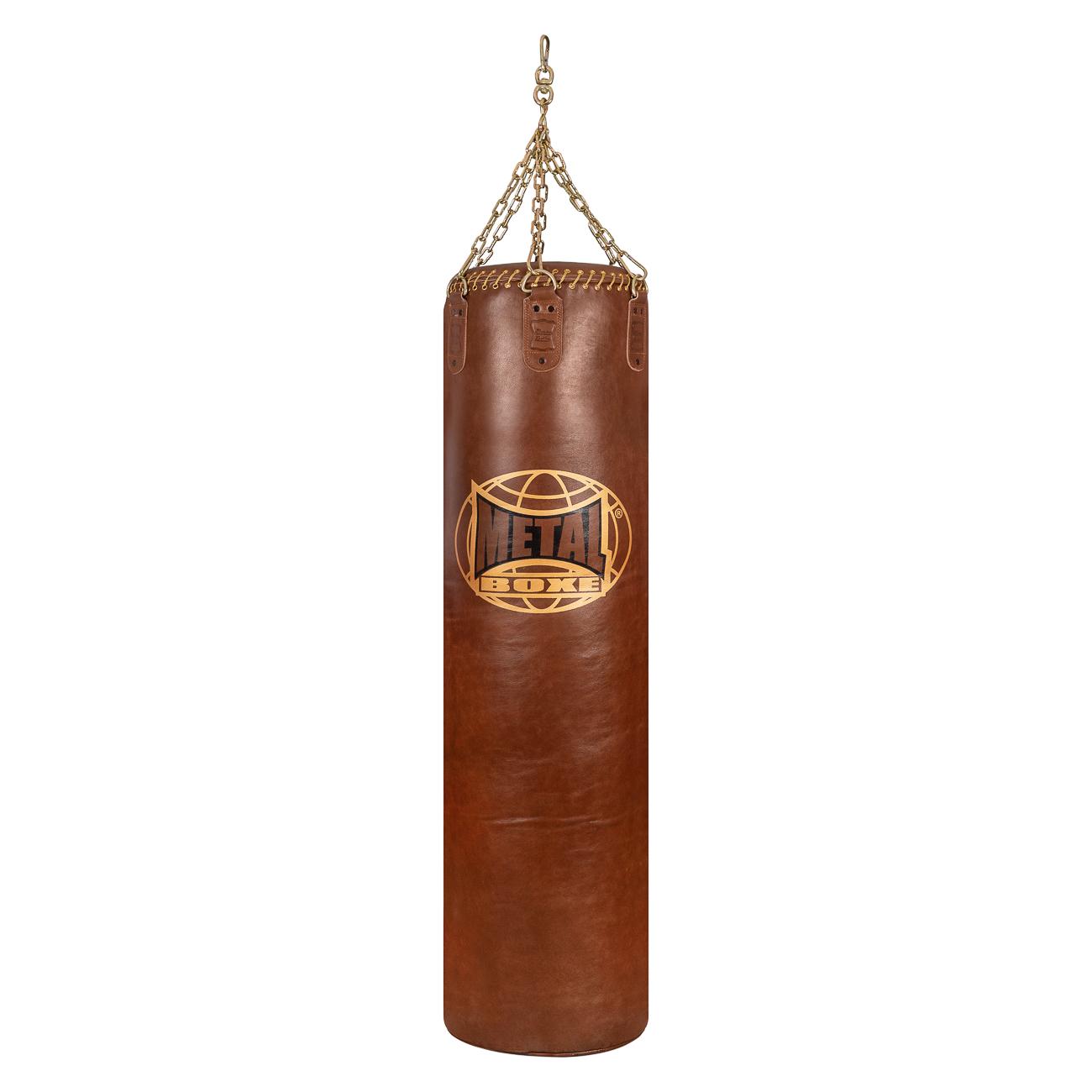 Sac de frappe en cuir Métal boxe Jupiter 65 kilos