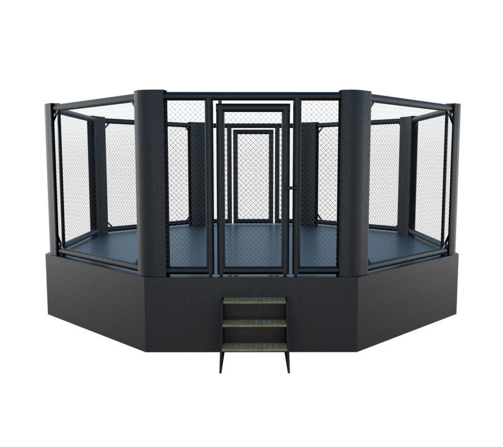 Cage MMA sur podium