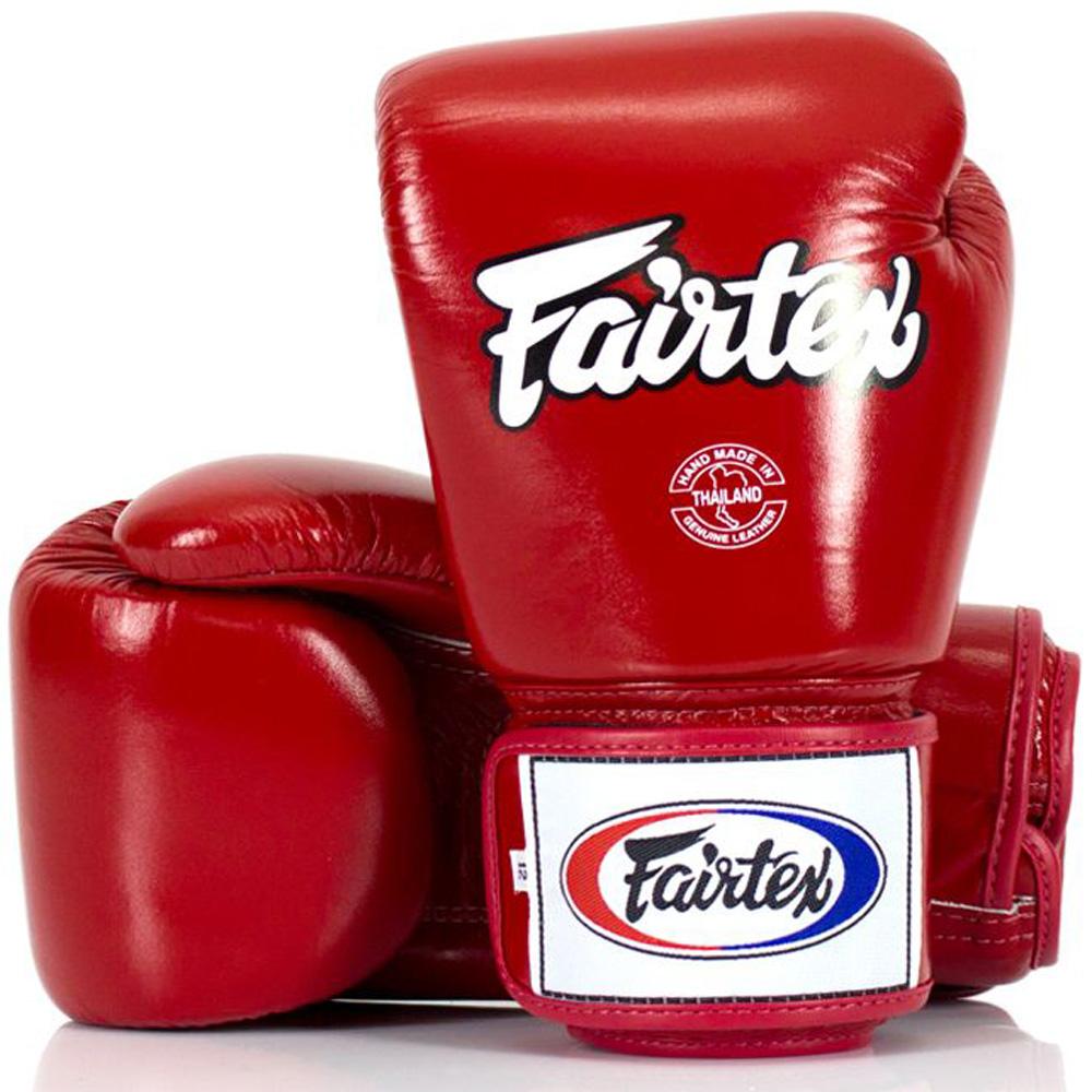 Gants de boxe Fairtex en cuir Rouge