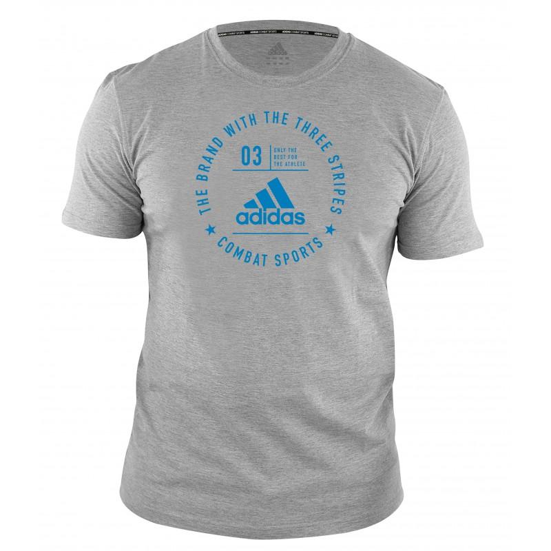 T-shirt Adidas community Gris et Bleu
