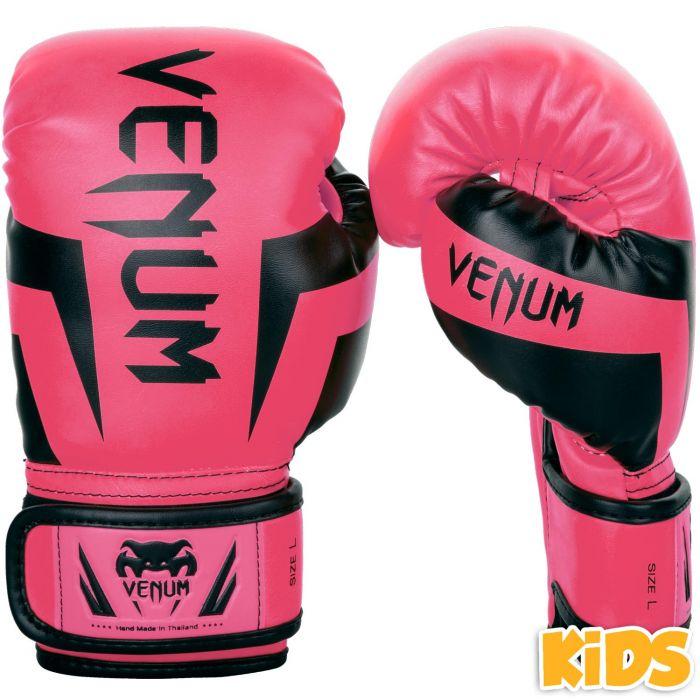 Gants de boxe Venum enfant Élite Rose