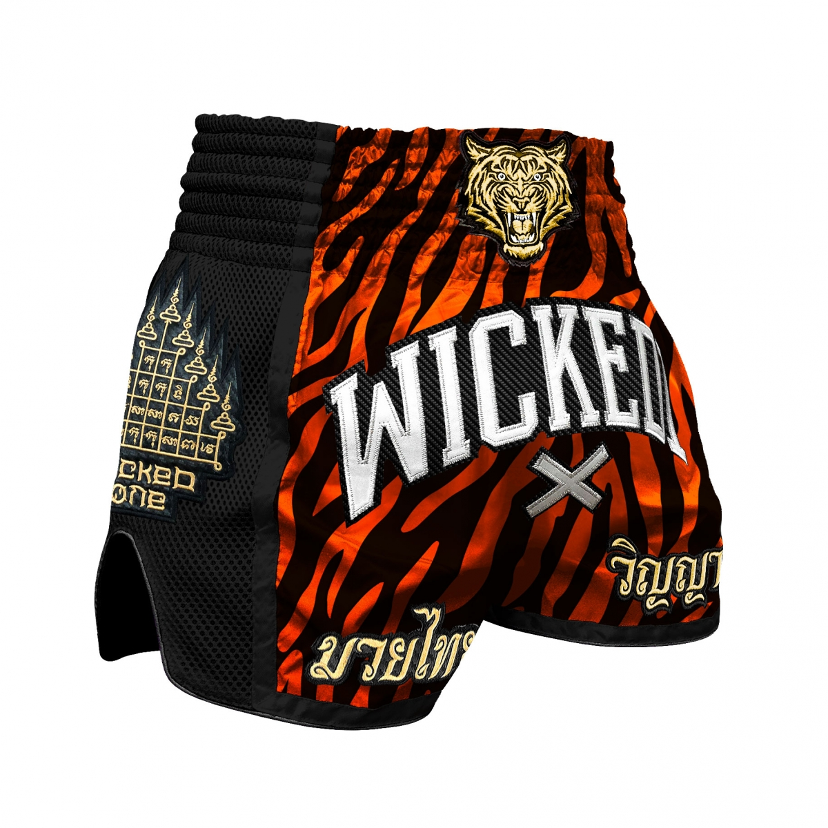 Short de muay Thaï Wicked one Tiger stripes