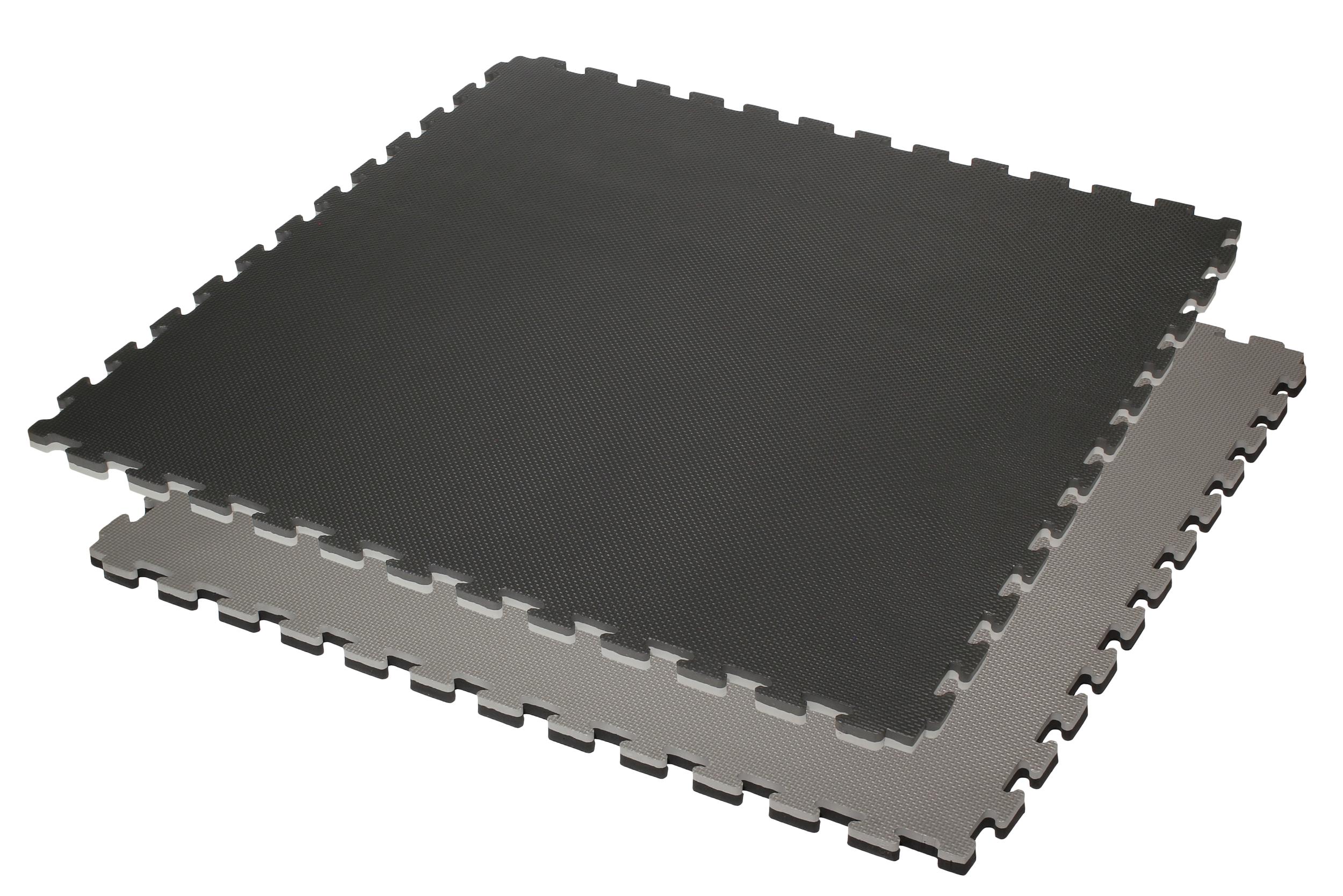 Tatamis puzzle Noir et Gris 4 cm motif T