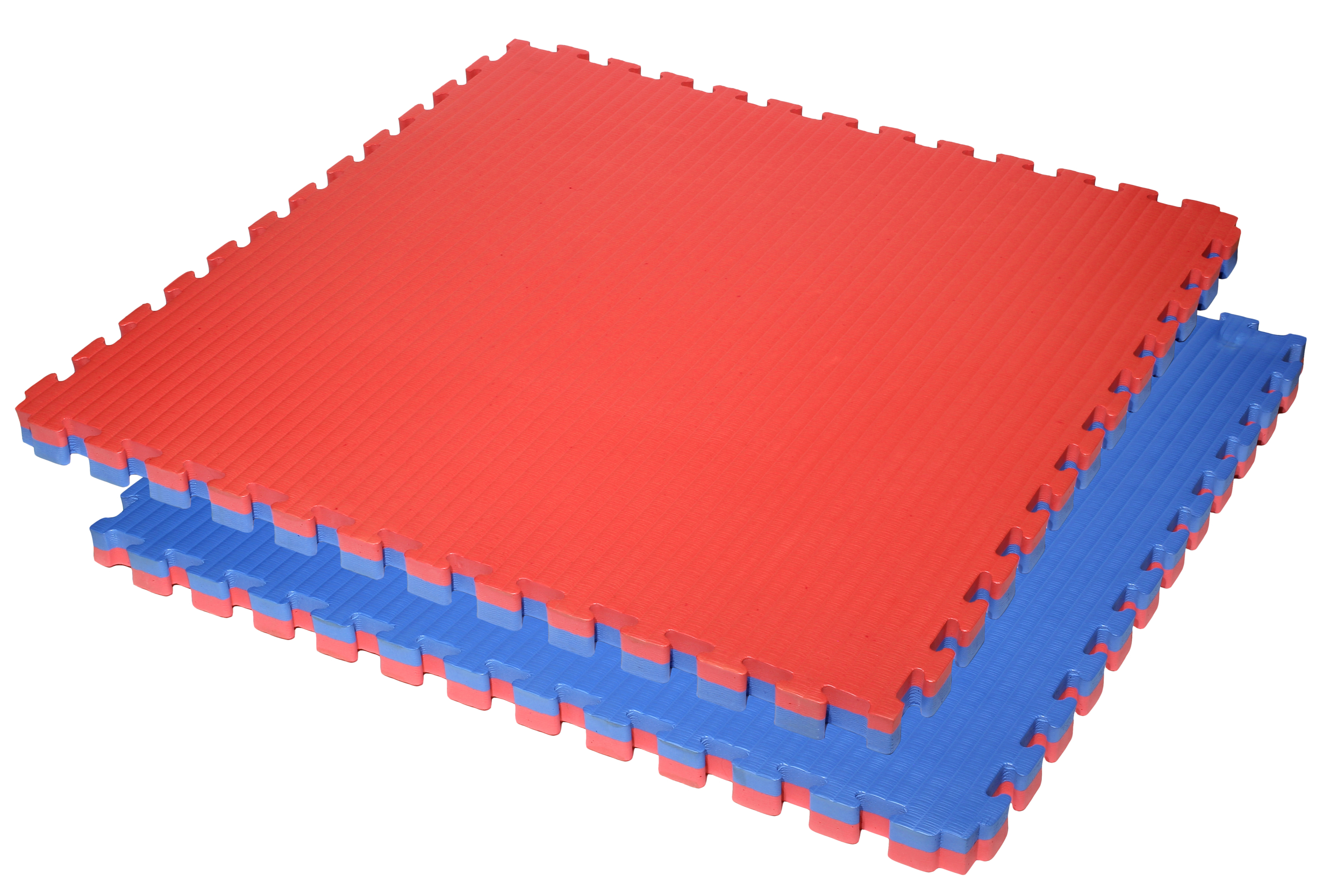 tatami-puzzle-finition-paille-de-riz-rouge-bleu